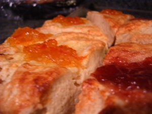 Marmalade and Strawberry Scones